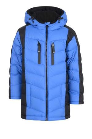 winterjas blauw/zwart