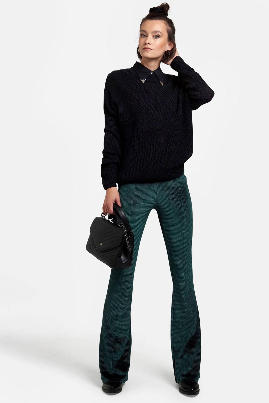 Eksept grofgebreide trui zwart, Zwart