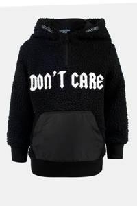 Mitch hoodie Madison met tekst zwart/wit, Zwart/wit