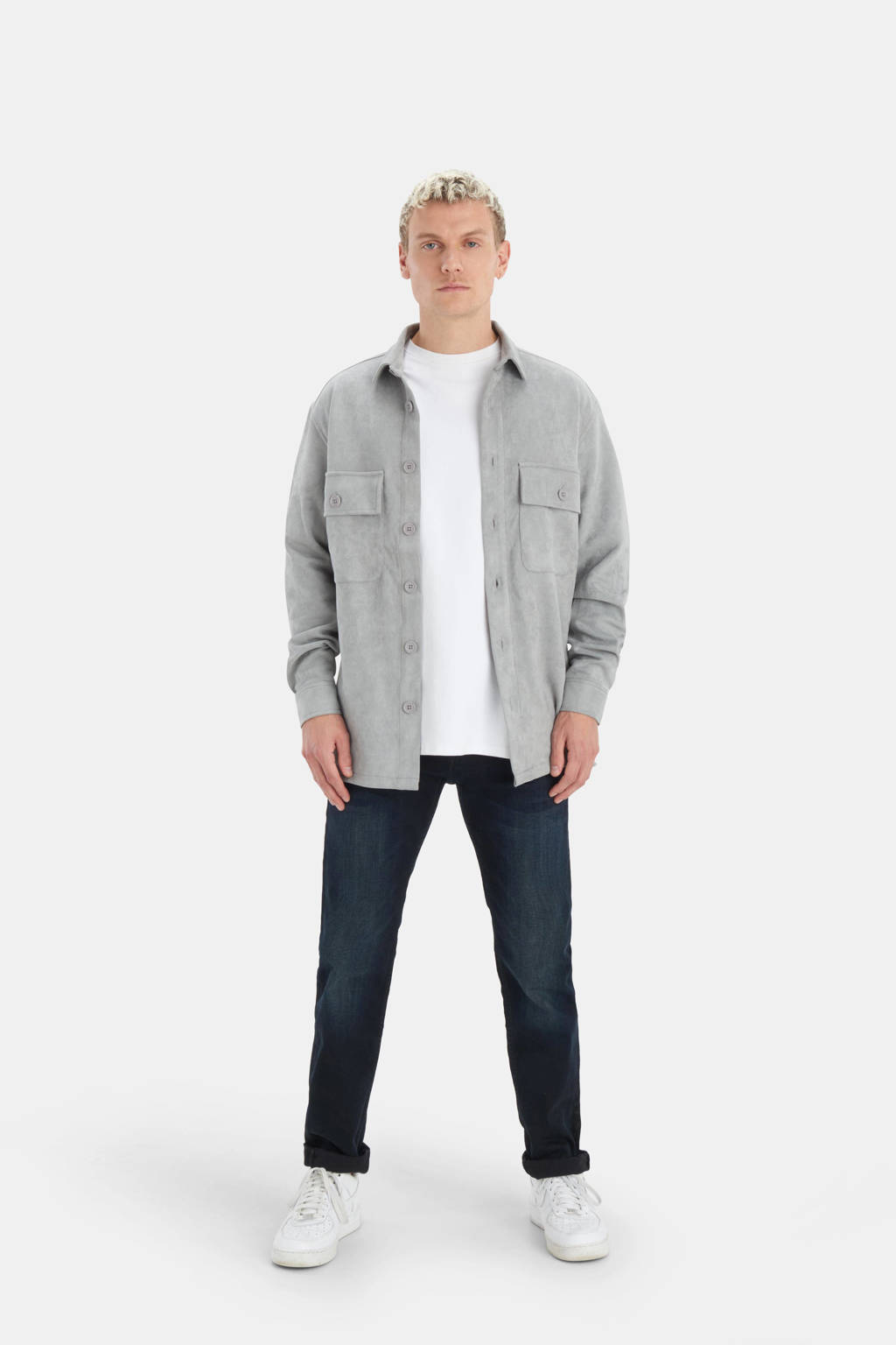Refill straight fit jeans blue/black, Blue/Black