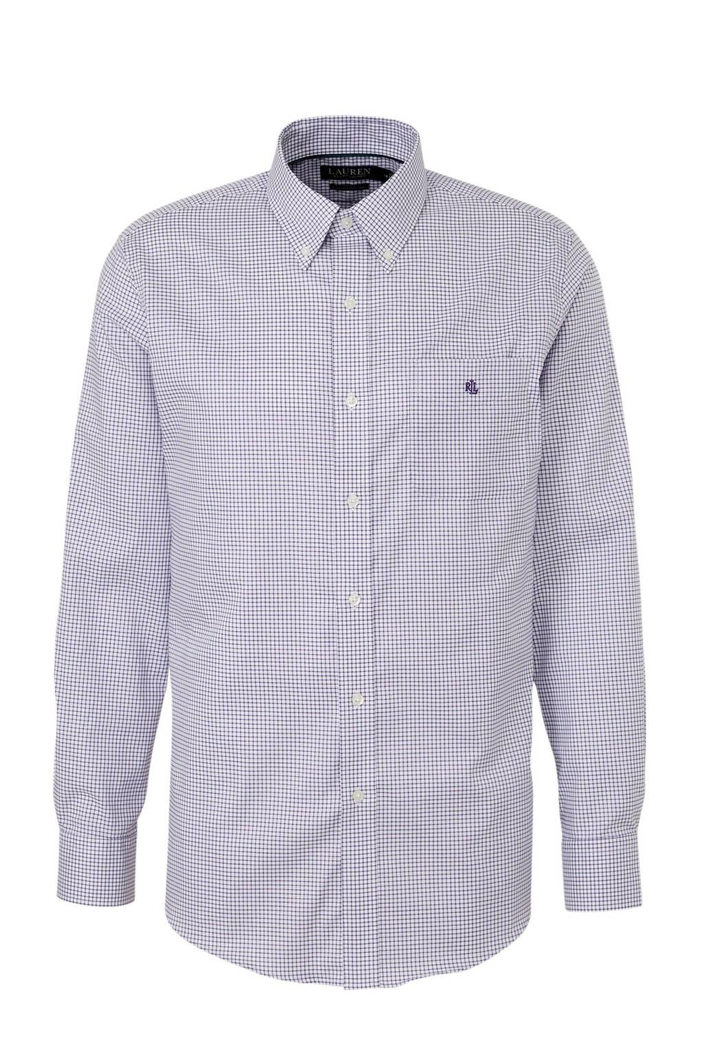 POLO Ralph Lauren geruit regular fit overhemd paars/wit, Paars/wit
