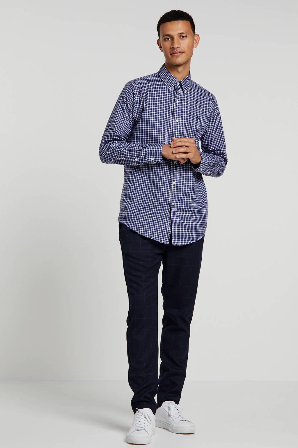 POLO Ralph Lauren geruit regular fit overhemd blauw/wit, Blauw/wit