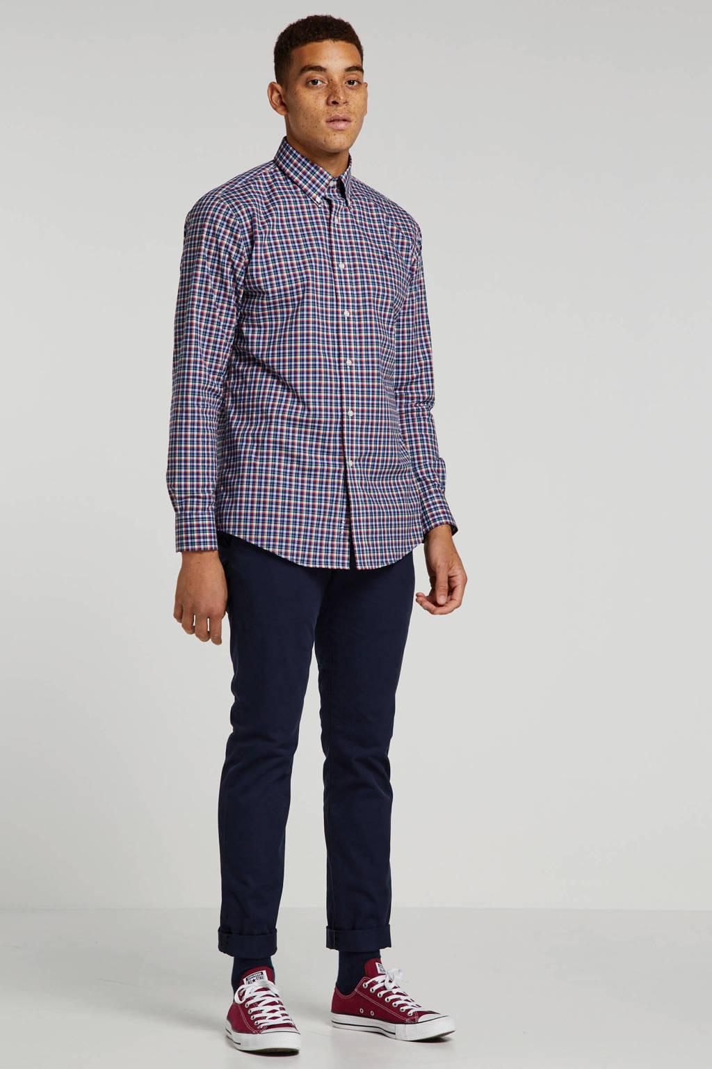 POLO Ralph Lauren geruit slim fit overhemd blauw/groen/rood/wit, Blauw/groen/rood/wit