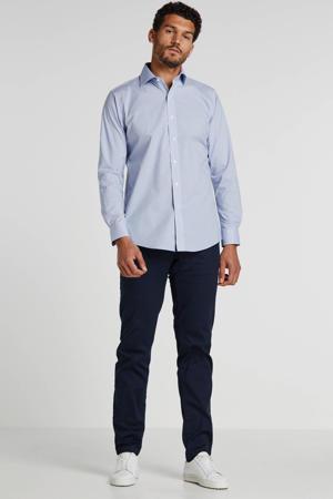 geruit regular fit overhemd blauw/wit