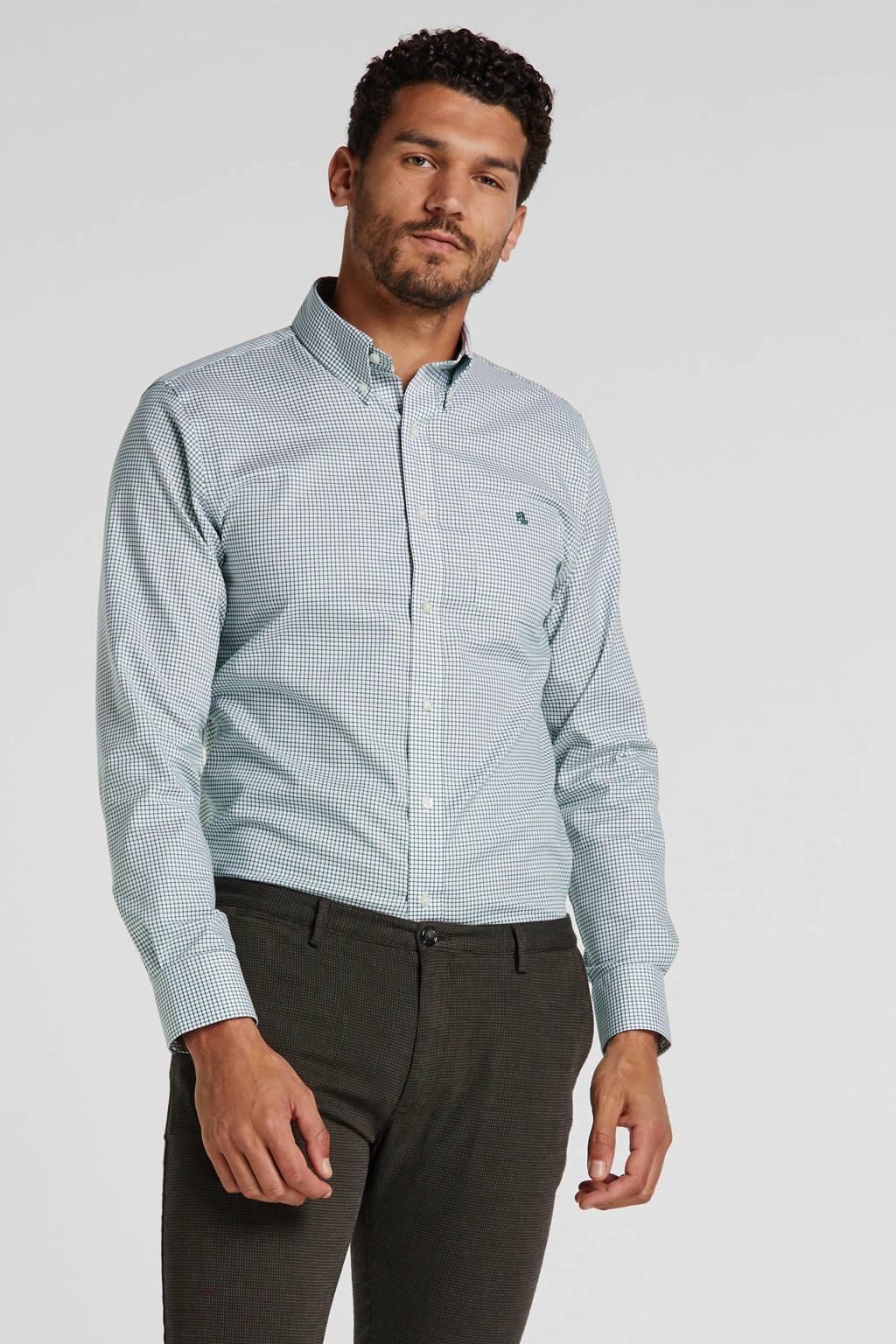 POLO Ralph Lauren geruit regular fit overhemd groen/wit, Groen/wit