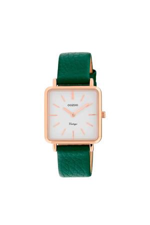 leren horloge C9949 groen