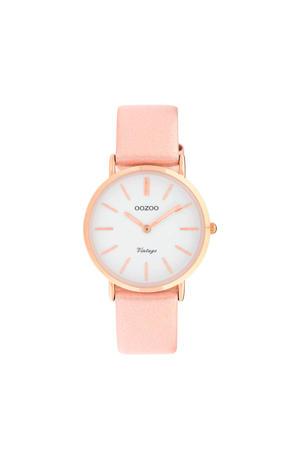 leren horloge C9972 roze