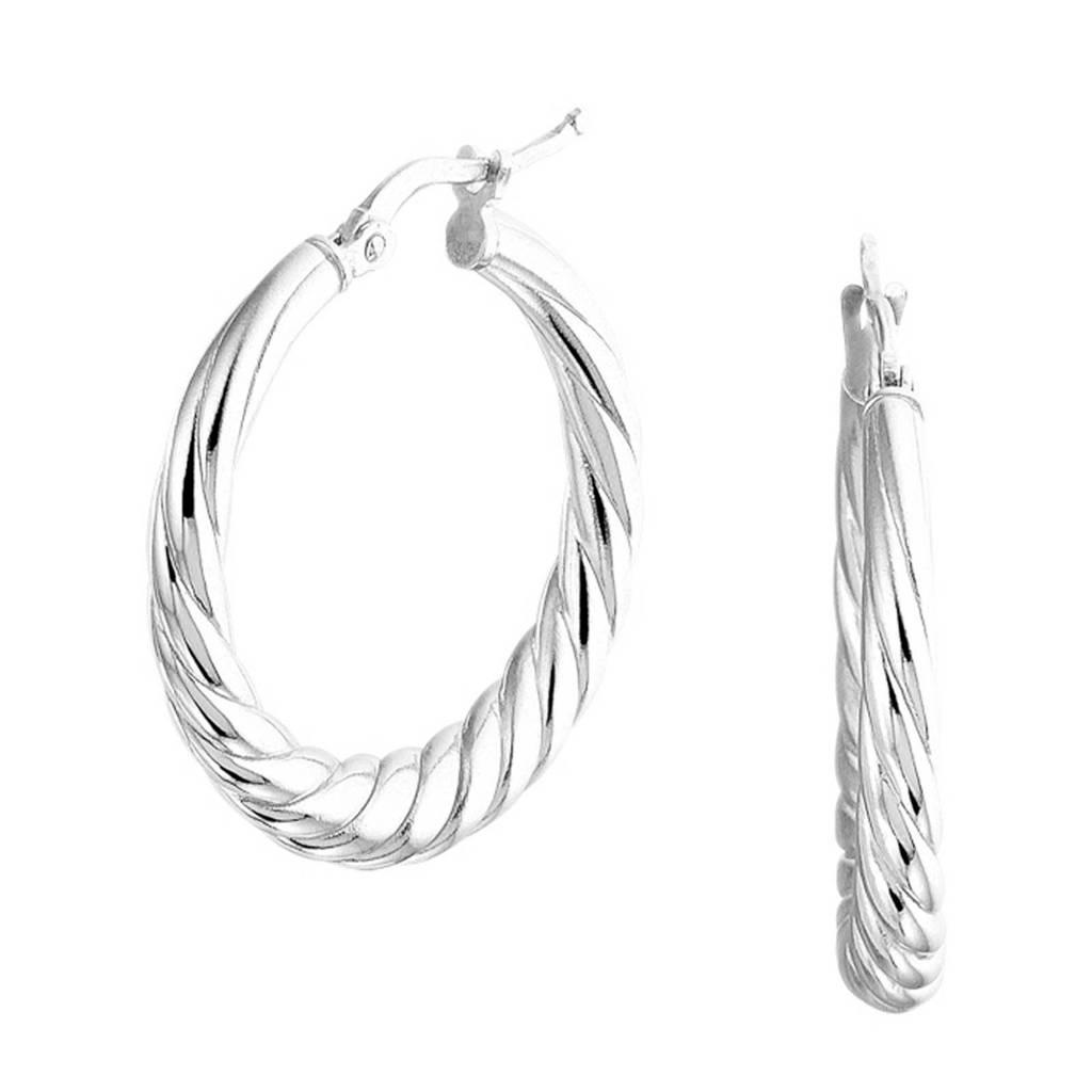 Selected Jewels zilveren oorbellen SJSS19004, Zilverkleurig