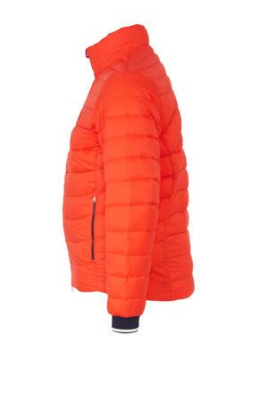winterjas met logo oranje