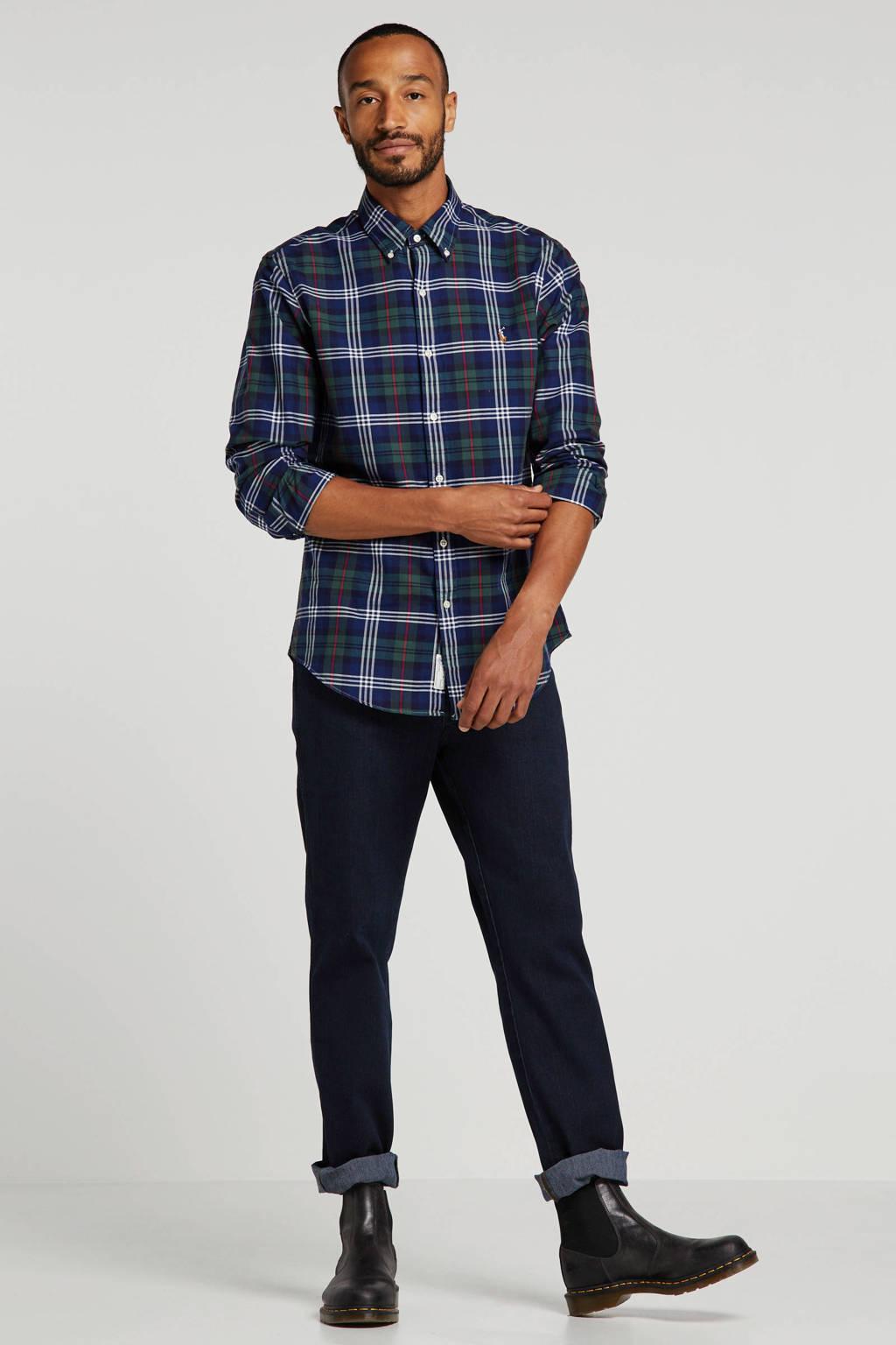 POLO Ralph Lauren geruit slim fit overhemd groen/blauw/rood/wit, Groen/blauw/rood/wit