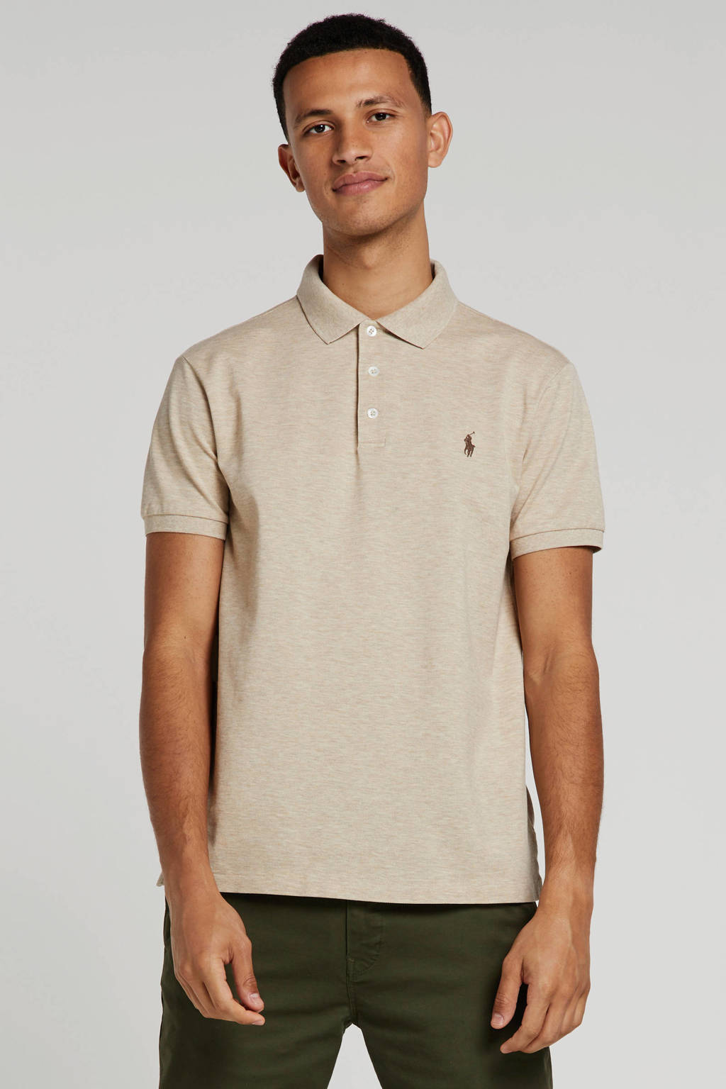 POLO Ralph Lauren slim fit polo beige, Beige