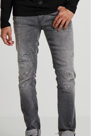 super skinny jeans Gilmour met slijtage 9001-greey steel