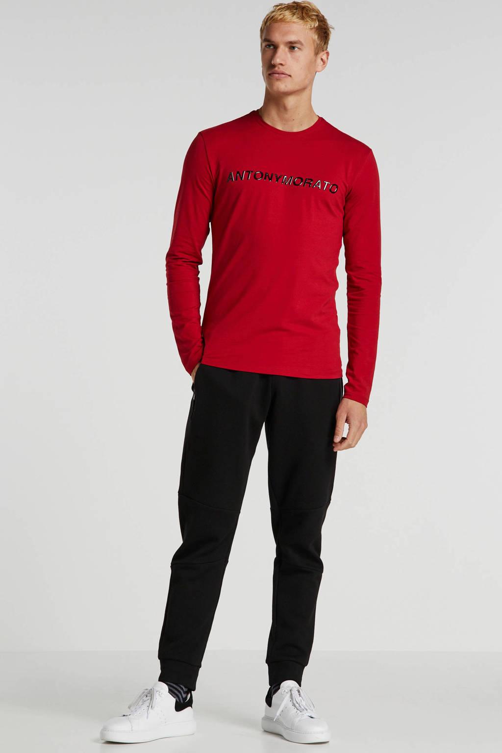 Antony Morato T-shirt met logo rood, Rood