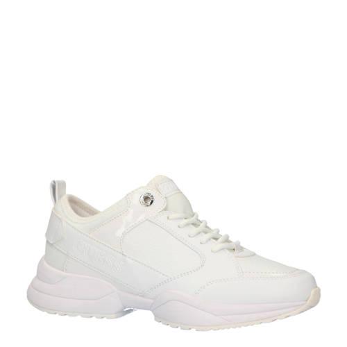 GUESS Breeta leren sneakers wit