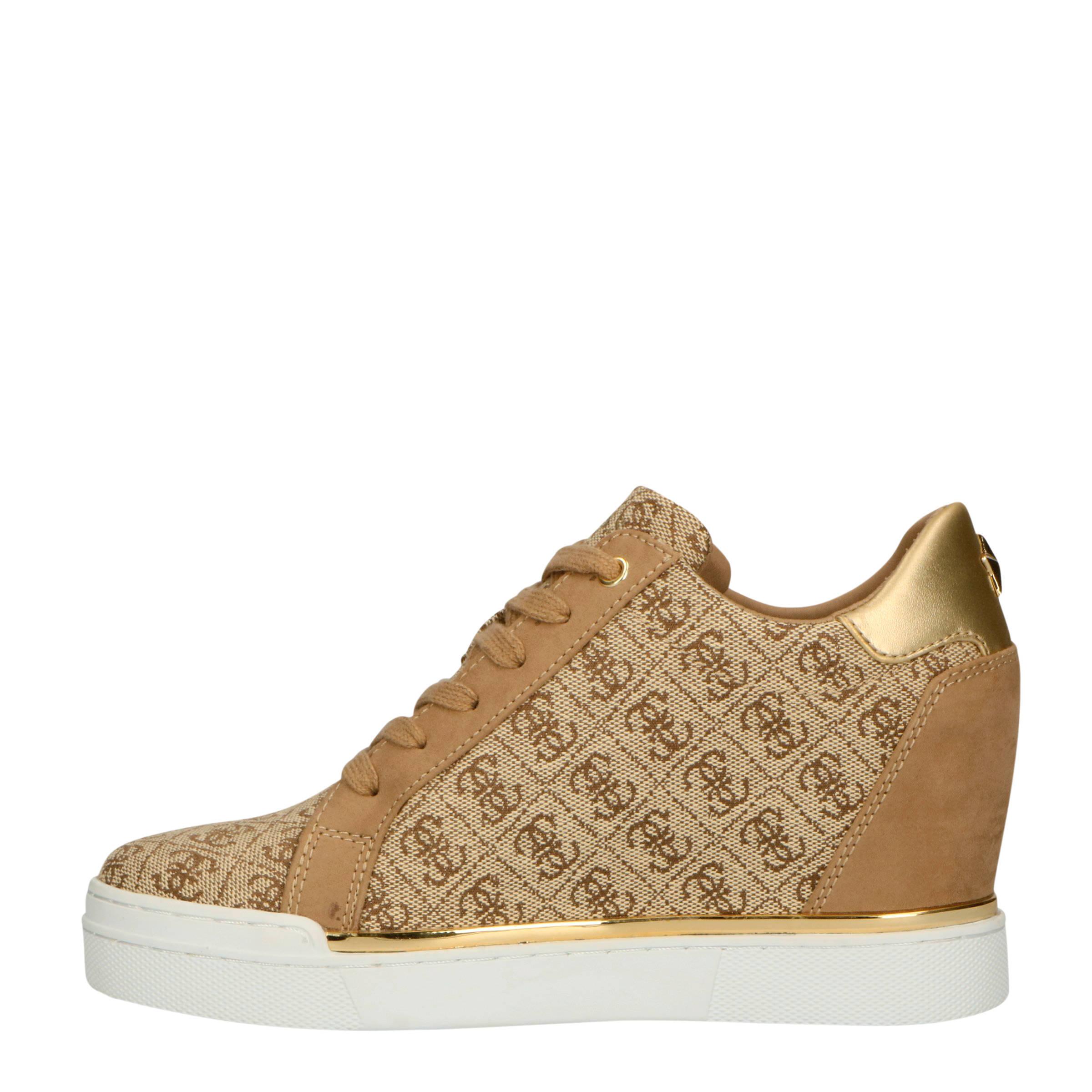 Fayne wedge sneakers bruingoud