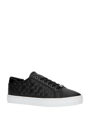 Gladiss leren sneaker zwart/zilver