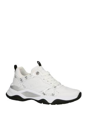 Flaus leren sneakers wit/zwart