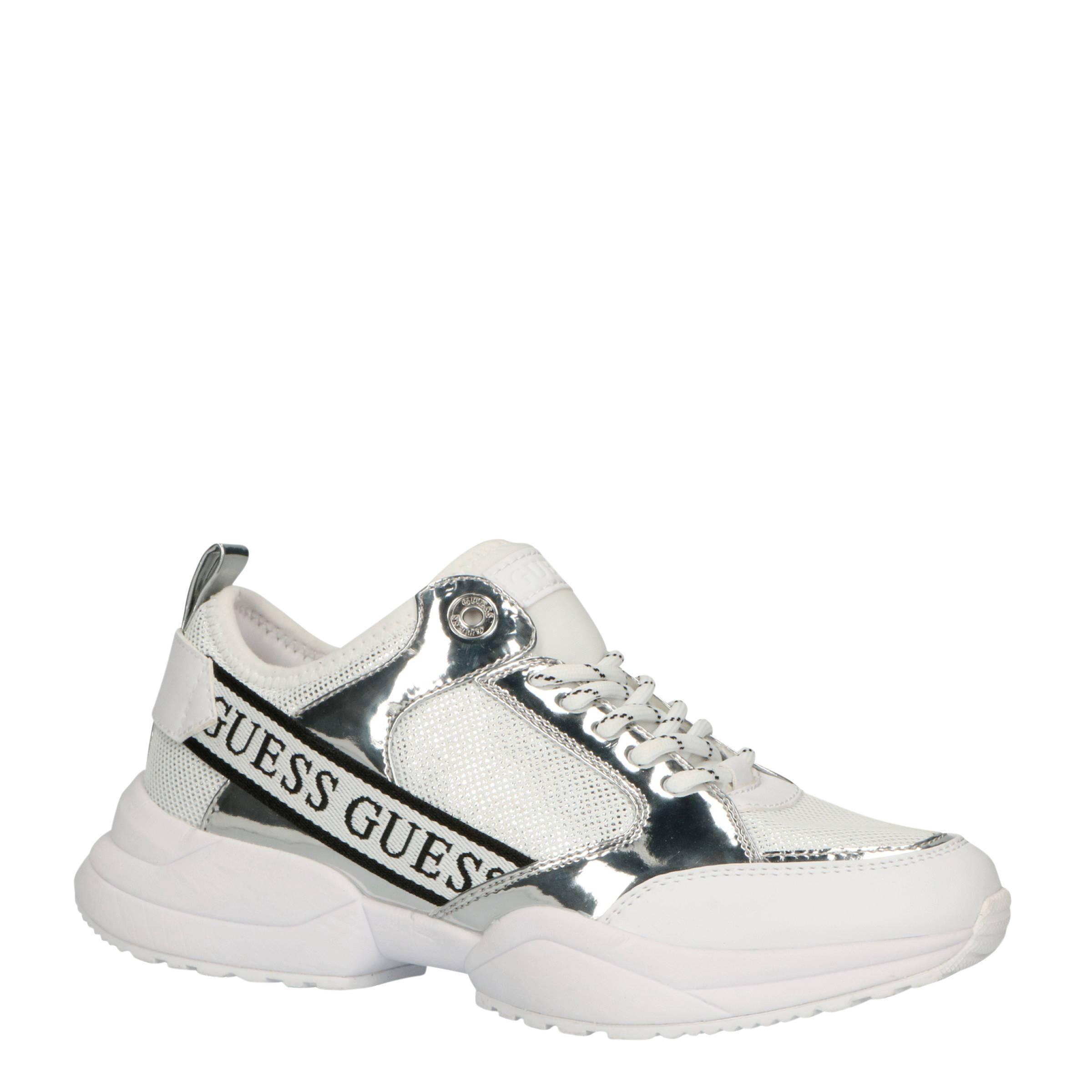 GUESS Breeta sneakers witzilver | wehkamp