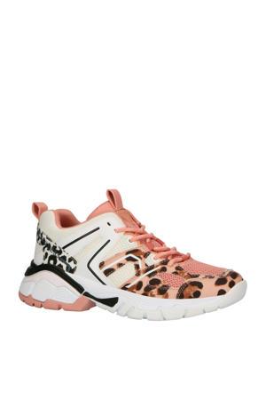 Marlia chunky sneakers roze/panterprint
