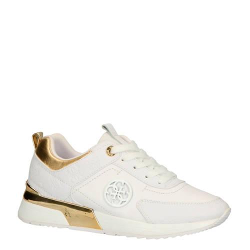 GUESS Marlyn leren sneakers wit/goud