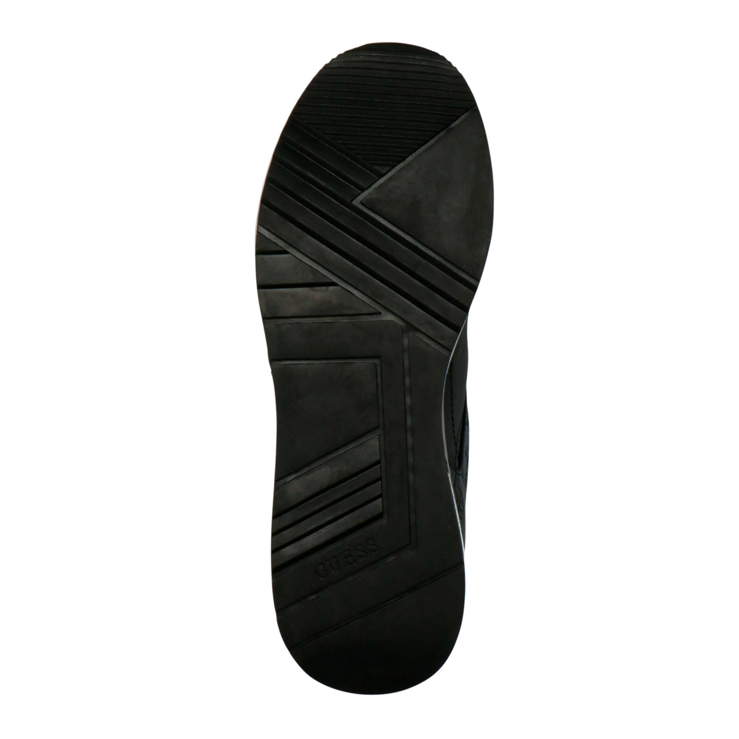 GUESS Marlyn leren sneakers zwart | wehkamp
