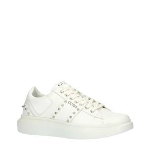 Kean  leren sneakers met studs wit