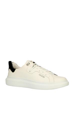 Kurt leren sneakers wit/zwart
