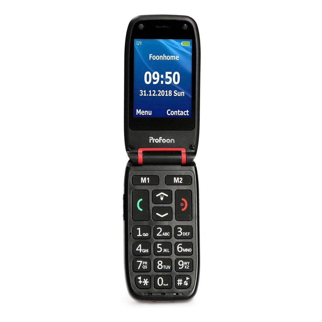 Profoon PM-665 mobiele senioren telefoon, Rood, zwart