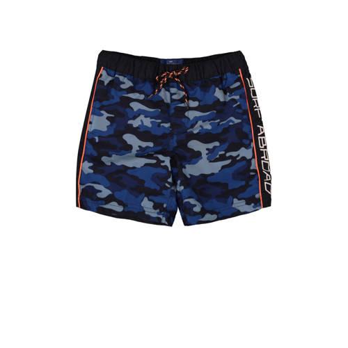 WE Fashion zwemshort met all over print blauw