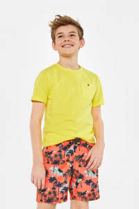 WE Fashion zwemshort met all over print koraalrood, Koraalrood