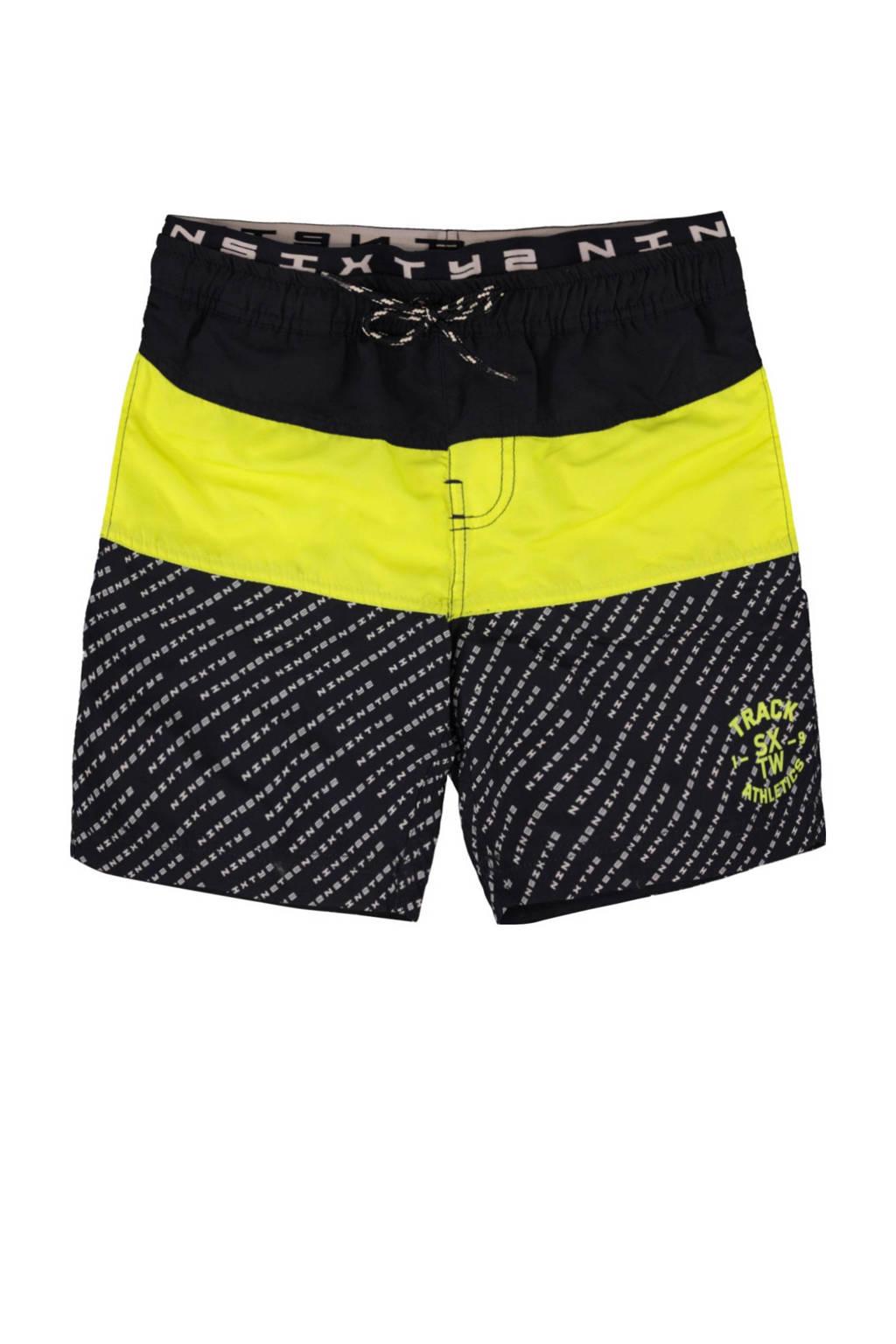 WE Fashion zwemshort met all over print marine, Marine / geel