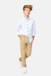 WE Fashion slim fit broek beige, Beige