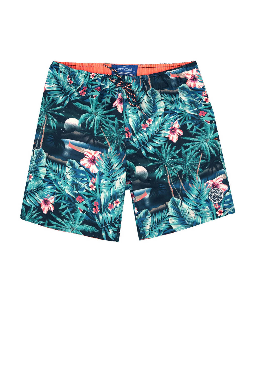 WE Fashion zwemshort met all over print blauw, Royal Navy