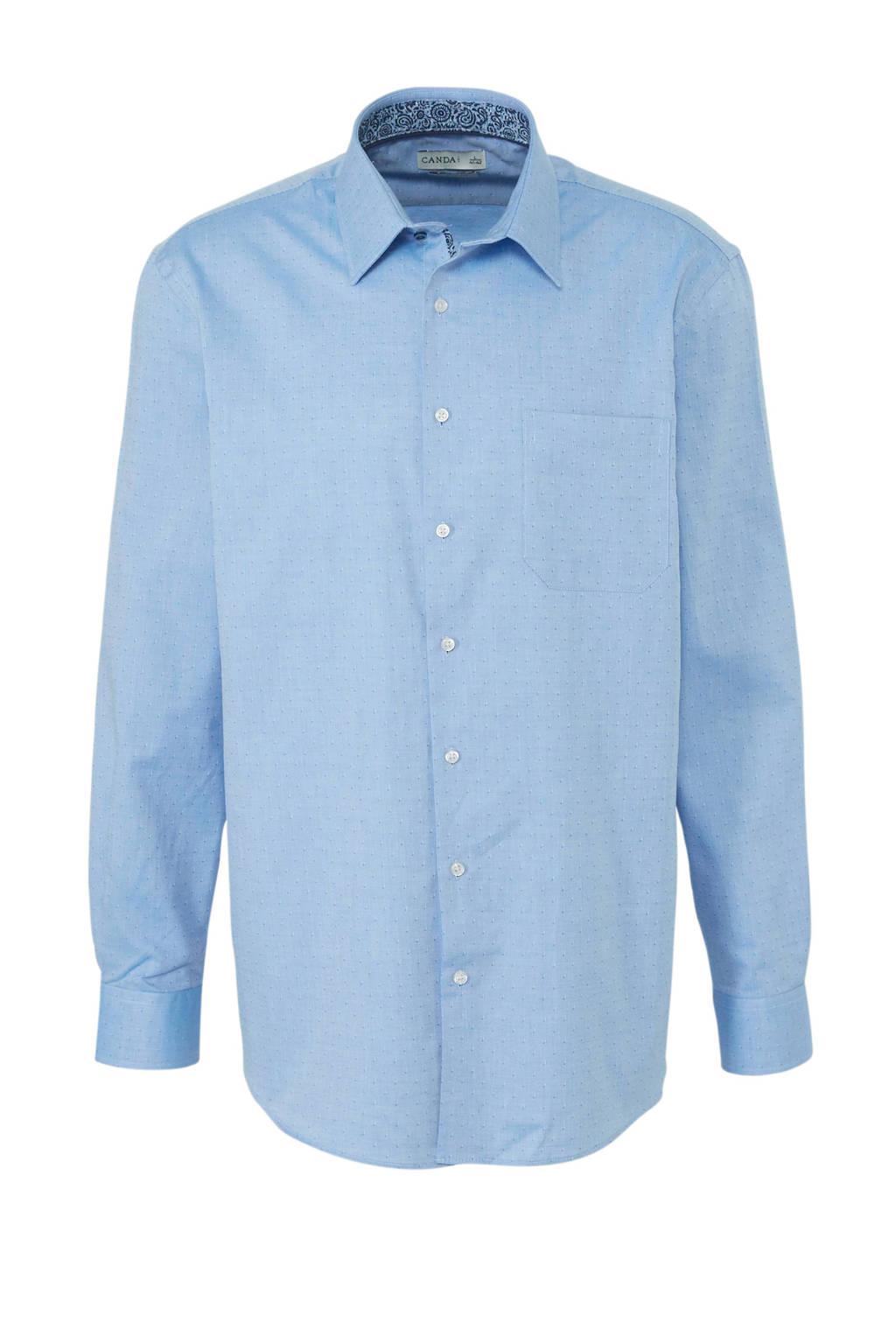 C&A Canda regular fit overhemd met all over print lichtblauw, Lichtblauw