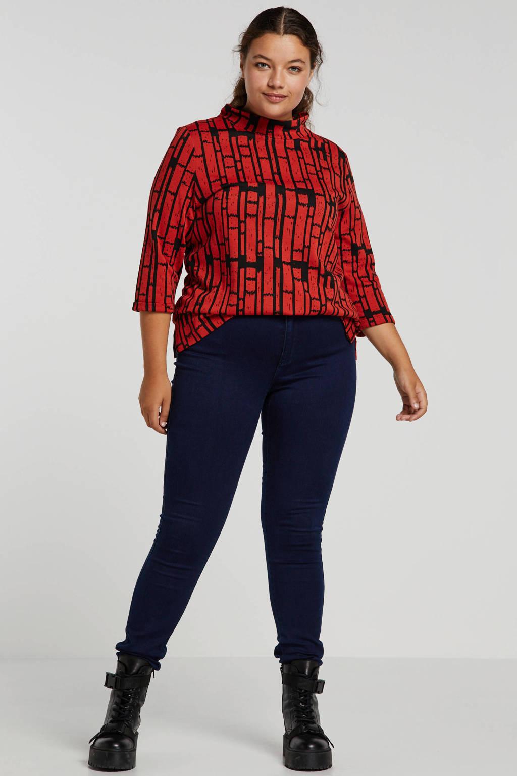 ONLY CARMAKOMA skinny jeans donkerblauw, Donkerblauw