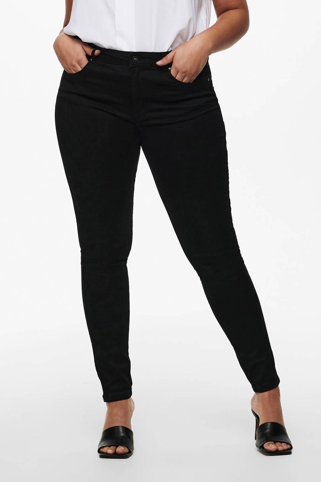 ONLY carmakoma high waist skinny jeans, Zwart