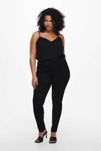 ONLY CARMAKOMA high waist skinny jeans CARAUGUSTA zwart, Zwart