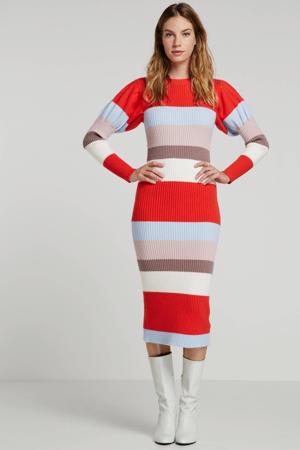 gestreepte jurk rood multi