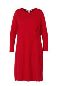 JUNAROSE jersey jurk rood, Rood