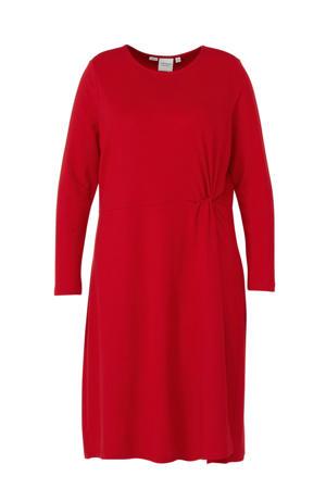 jersey jurk rood