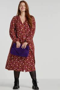 JUNAROSE gebloemde blousejurk rood, Rood