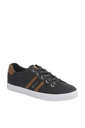 sneakers antraciet/cognac