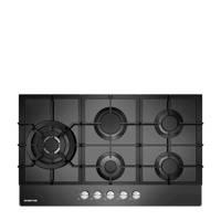 Inventum IKG9023WGGL inbouw gaskookplaat, Zwart