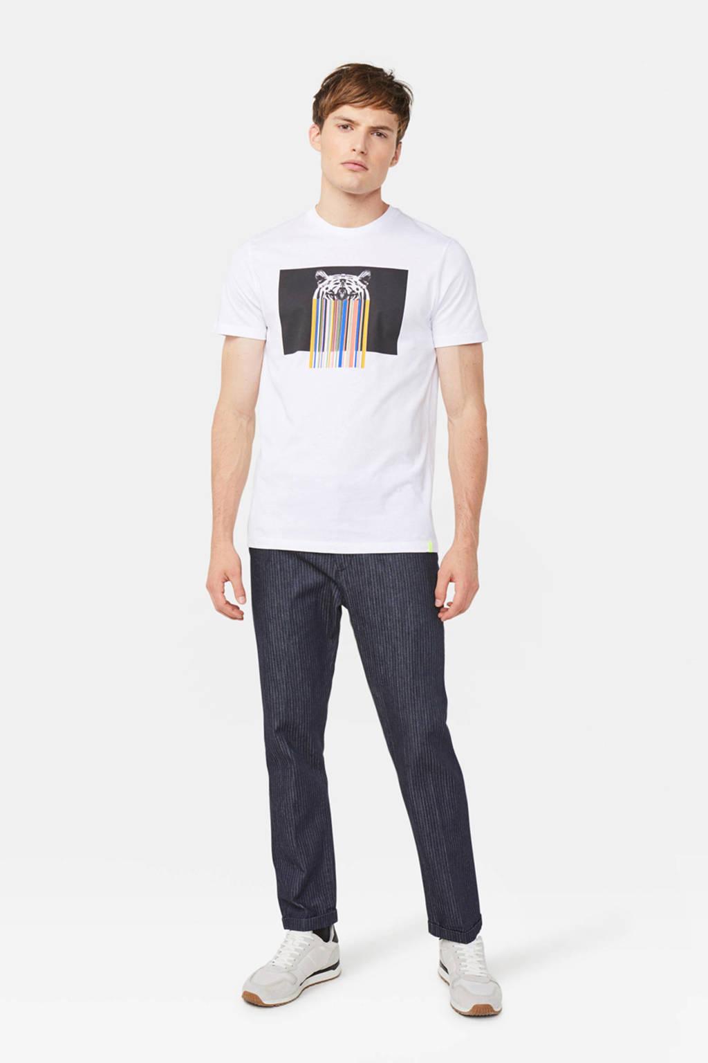 WE Fashion T-shirt met printopdruk wit, Wit