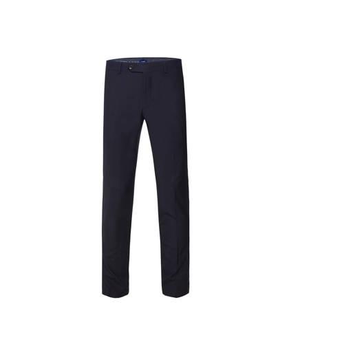 WE Fashion Van Gils slim fit pantalon met wol roya