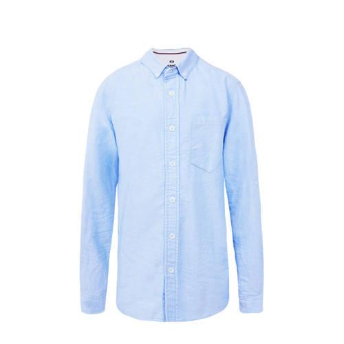 WE Fashion slim fit overhemd lichtblauw