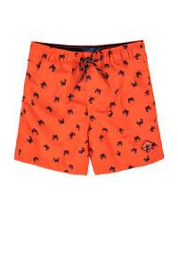 WE Fashion zwemshort met all over print oranje, Oranje
