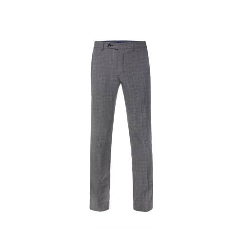 WE Fashion Van Gils slim fit pantalon met wol mid
