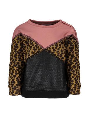 sweater oudroze/bruin/zwart