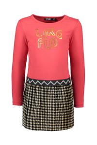 Like Flo jersey jurk met printopdruk fuchsia/bruin, Fuchsia/bruin